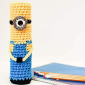 Crochet Minion Pencil Case - Petals to Picots