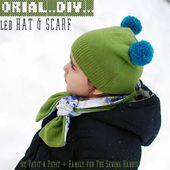 DIY : un bonnet et une écharpe à partir d'un pull à recycler
