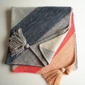 Colorblock Bias Blanket
