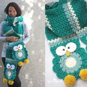 Crochet Owl Super Scarf - Repeat Crafter Me