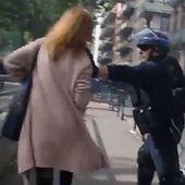 VIDÉO choc: un CRS s'en prend violemment à une femme