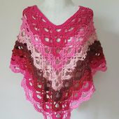 Gemstone Lace Poncho (Adult) Crochet Pattern - The Lavender Chair