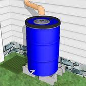Comment fabriquer un baril de récupération d'eau de pluie