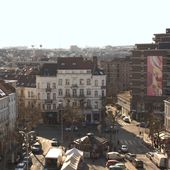 Discover a visual delight! Guillaume Bottazzi's giant painting is at Place Jourdan in Brussels