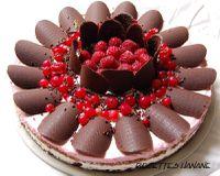 Gâteau d'annivesaire aux framboises et chocolat