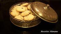 Macarons à la noix de coco et aux raisins secs (patisserie orientale)