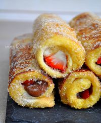 "Pain Perdu Roulé "" French Toast Roll Ups """