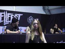 Conference de presse de PRONG au Hellfest 2017