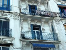Alger en bleu et blanc