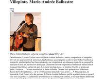 """Marie-Andrée Balbastre """"à Villepinte"""