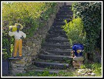 Escalier accueillant (Civerac - Le Broc) ...