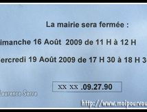 Horaires mairie ...