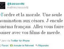 Kassovitz vs César 2012: L'ORDRE ET LA MORALE