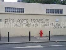 « Flics, porcs, assassins » manif anti-flic Montreuil [13/07/09]