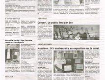 LE TELEGRAMME DU 24 08 2012, L'Empereur Napoléon 1er et le Nantes à Brest le 7 juin 1811 : explications au PK195...
