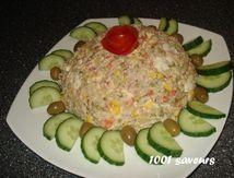 Salade variée + feuilletés aux saucisses de volaille
