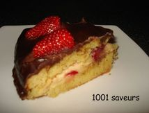 Boston Cream Pie aux fraises