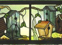 Modèle pour vitraux - Nichoirs