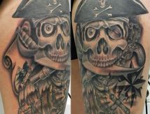 tatouage pirate cuisse