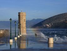 La Bora souffle fort à Senj en Croatie