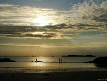 coucher du soleil à St Malo