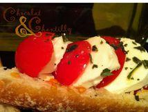 Toast Tomate Mozzarella Basilic