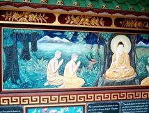 Quelques fresques au jardin de la pagode Thien Minh