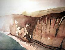 étretat, les falaises