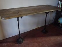 CONSOLE PIEDS BISTROT