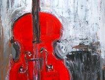 Red cello - violoncelle rouge
