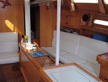 Sellerie bateau, coussins & rideaux Ovni 345