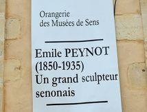 Emile Peynot artiste sculpteur Senonais Exposition à Sens. Musée de l'orangerie à Sens