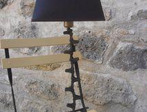 lampe chaine métal