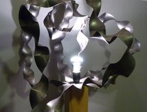 L'arbre lampe sculpture design bois metal