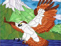 Modèle pour vitrail - Rapace Osprey