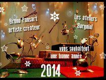 Les ateliers Borgniol et Bruno Pansart vous souhaitent une bonne année.