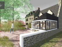 Maison B - Construction d'un préau en bois - Réagencement intérieur et extérieur - Carnac