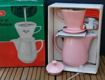 Porte filtre + cafetière melitta Rose Années 60-70 - Vintage