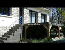 Terrasse bois composite sur pilotis Vannes Morbihan