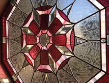 Pink stained glass w