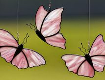 Stained glass pink b