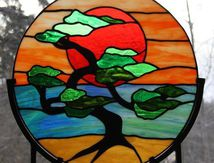 bonsai stained glass