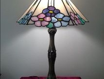 Flower lamp by Glass