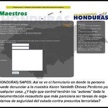 HONDURAS: La Red de un Millón de Sapos en Honduras contra el Maestro