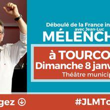 Mélenchon à Tourcoing dimanche 8 janvier