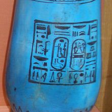 Correction - Exercice de traduction hiéroglyphes - Vases au nom de Ramses II