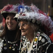 """""""London's other royalty: Pearly Kings and Queens..."""