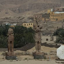 """""""Pharaoh Amenhotep III Statues Unveiled In Luxor..."""