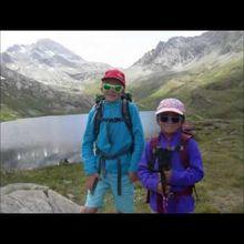 Tess 6 ans et demi et Nathan 9 ans : Randonnée n°3 : Col Vieux, Lac Foréant 12 juillet 2015