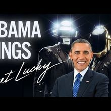 Barack Obama Singing Get Lucky by Daft Punk (ft. Pharrell)